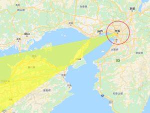2020年恵方巻 大阪の西南西