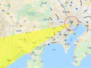 2020年恵方巻 東京の西南西